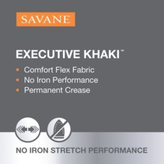 Big & Tall Savane Tapered Performance Active Flex Pants