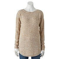 Juniors' It's Our Time Boatneck Tunic Sweater