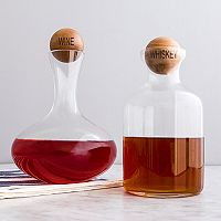 Cathy's Concepts 2 pc Wine & Whiskey Decanter Set