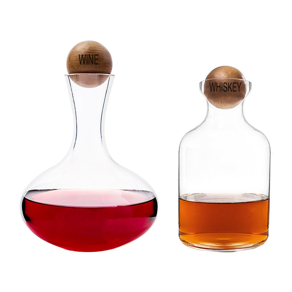 Cathy's Concepts 2-pc. Wine & Whiskey Decanter Set