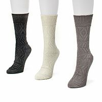 MUK LUKS 3 pkWomen's Diamond Boot Socks