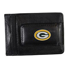 Green Bay Packers Black Leather Cash & Card Holder