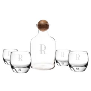 Cathy's Concepts 5-pc. Monogram Whiskey Decanter Set