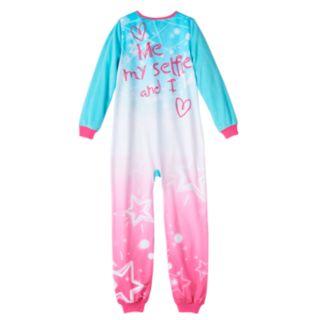Girls Jellifish Animal Fleece One-Piece Pajamas
