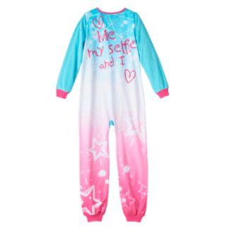 Girls Jelli Fish Animal Fleece One-Piece Pajamas