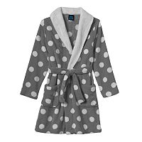 Girls 4-16 Jellifish Print Fleece Bath Robe