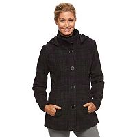 Women's d.e.t.a.i.l.s Hooded Single-Breasted Peacoat