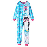 Girls 4-16 Jelli Fish Animal One-Piece Pajamas