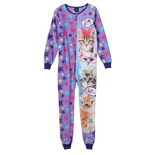Girls 4-16 Jellifish Animal One-Piece Pajamas