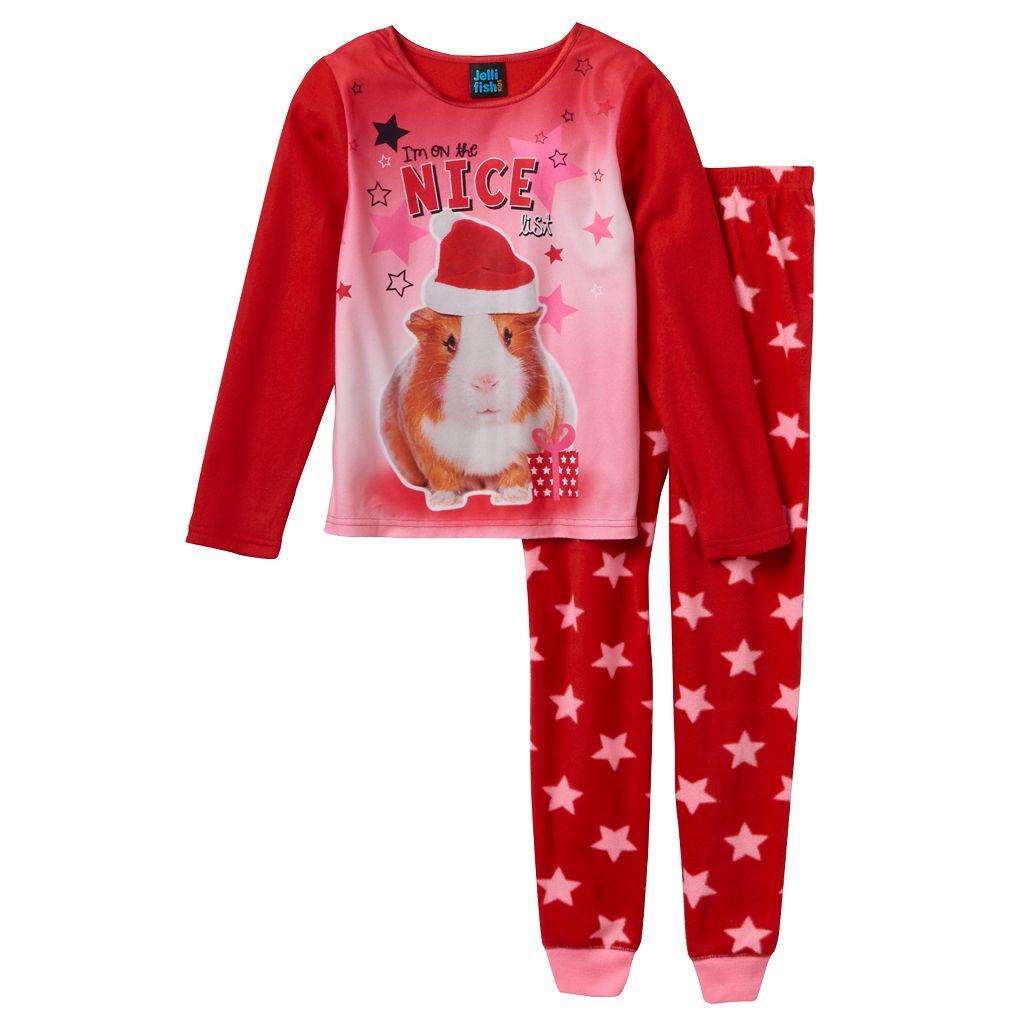 Girls 4-16 Jellifish Animal Pajama Set