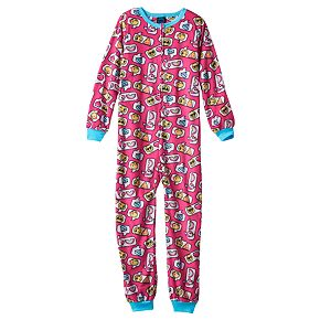 Girls 4-16 Jellifish Pattern One-Piece Pajamas