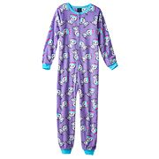 Girls 4-16 Jellifish Pattern One-Piece Pajamas