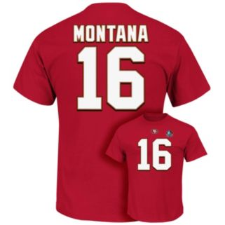 Men's Majestic San Francisco 49ers Joe Montana Hall of Fame Eligible Receiver Tee