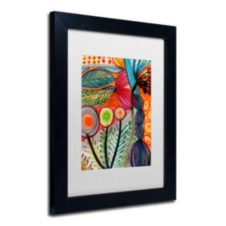 Trademark Fine Art Vivaces Matted Black Framed Wall Art