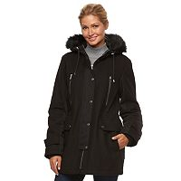 Women's Apt. 9® Hooded Wool Blend Anorak Jacket