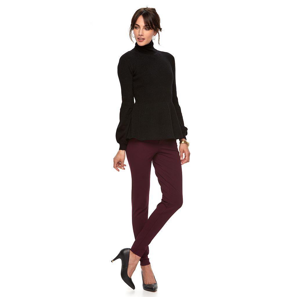 Women's ELLE™ Turtleneck Peplum Sweater