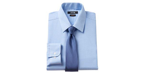 Men 39 s apt 9 slim fit dress shirt tie set for Apartment 9 dress shirts