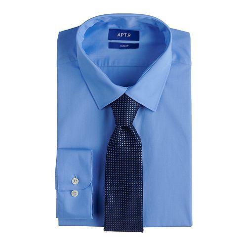 a8f28be2409b Men's Apt. 9® Slim-Fit Dress Shirt & Tie Set