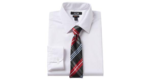 Men 39 S Apt 9 Slim Fit Dress Shirt Tie Set