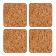 Thirstystone 4 pc Glitter Cork Coaster Set