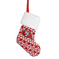 FOCO San Francisco 49ers Knit Stocking Christmas Ornament