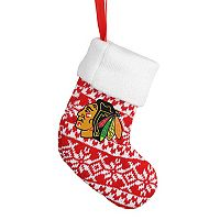 Forever Collectibles Chicago Blackhawks Knit Stocking Christmas Ornament