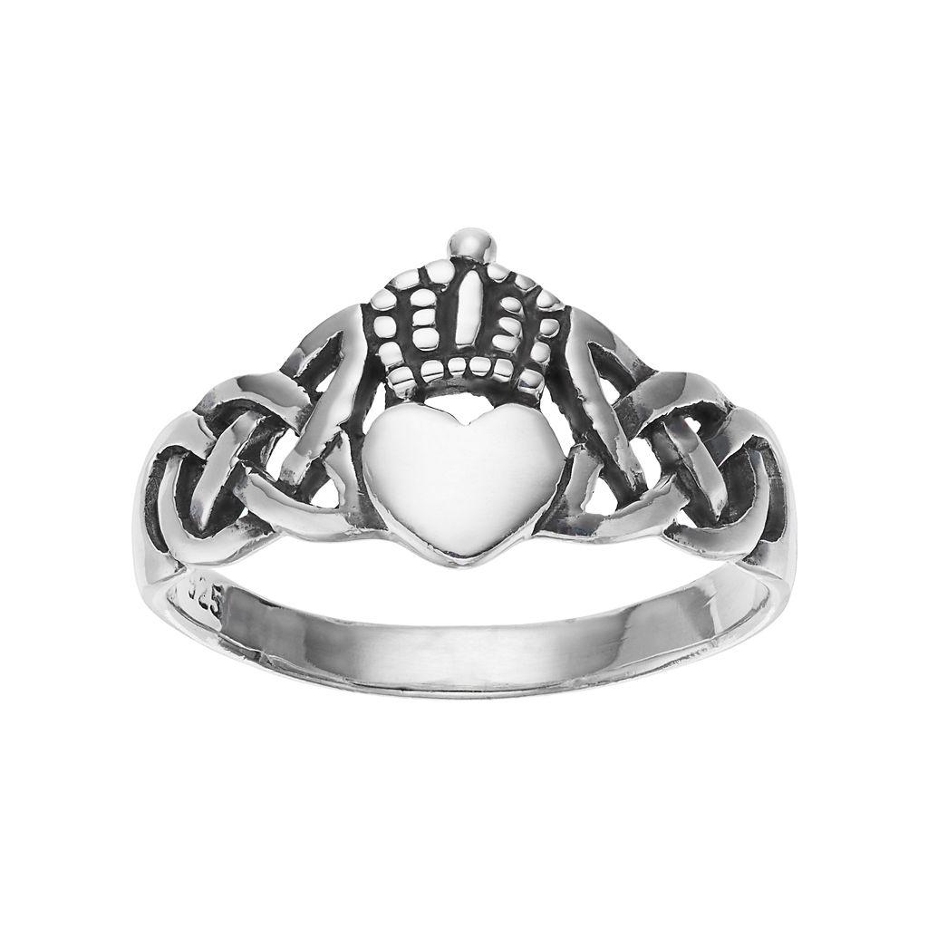 PRIMROSE Sterling Silver Claddagh Ring