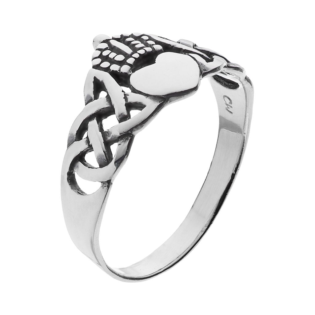 PRIMROSE Sterling Silver Claddagh Ring