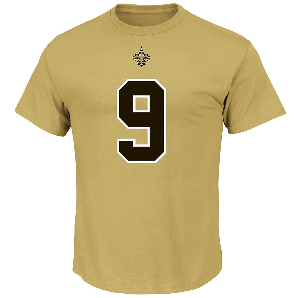 Men's Majestic New Orleans Saints Drew Brees Eligible Receiver Tee
