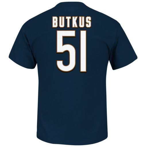 Men's Majestic Chicago Bears Dick Butkus Hall of Fame Eligible Receiver Tee