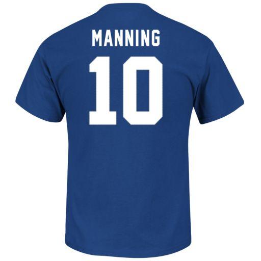 Men's Majestic New York Giants Eli Manning Eligible Receiver Tee