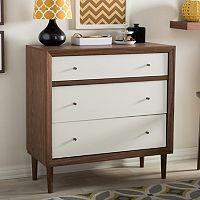 Baxton Studio Harlow Mid-Century Modern Scandinavian 3-drawer Chest