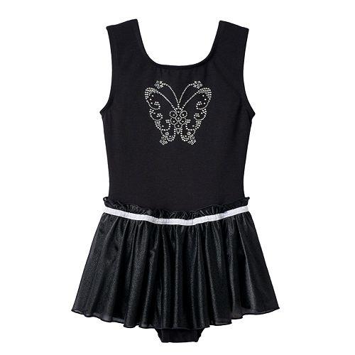 Girls 4-14 Jacques Moret Butterfly Skirtall Leotard