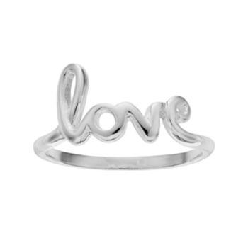 "PRIMROSE Sterling Silver ""Love"" Ring"
