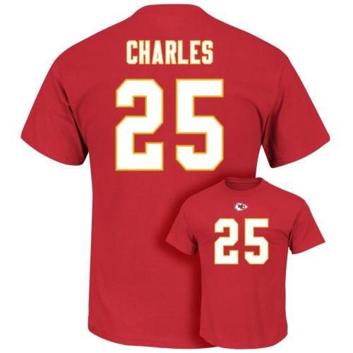 Men's Majestic Kansas City Chiefs Jamaal Charles Eligible Receiver Tee