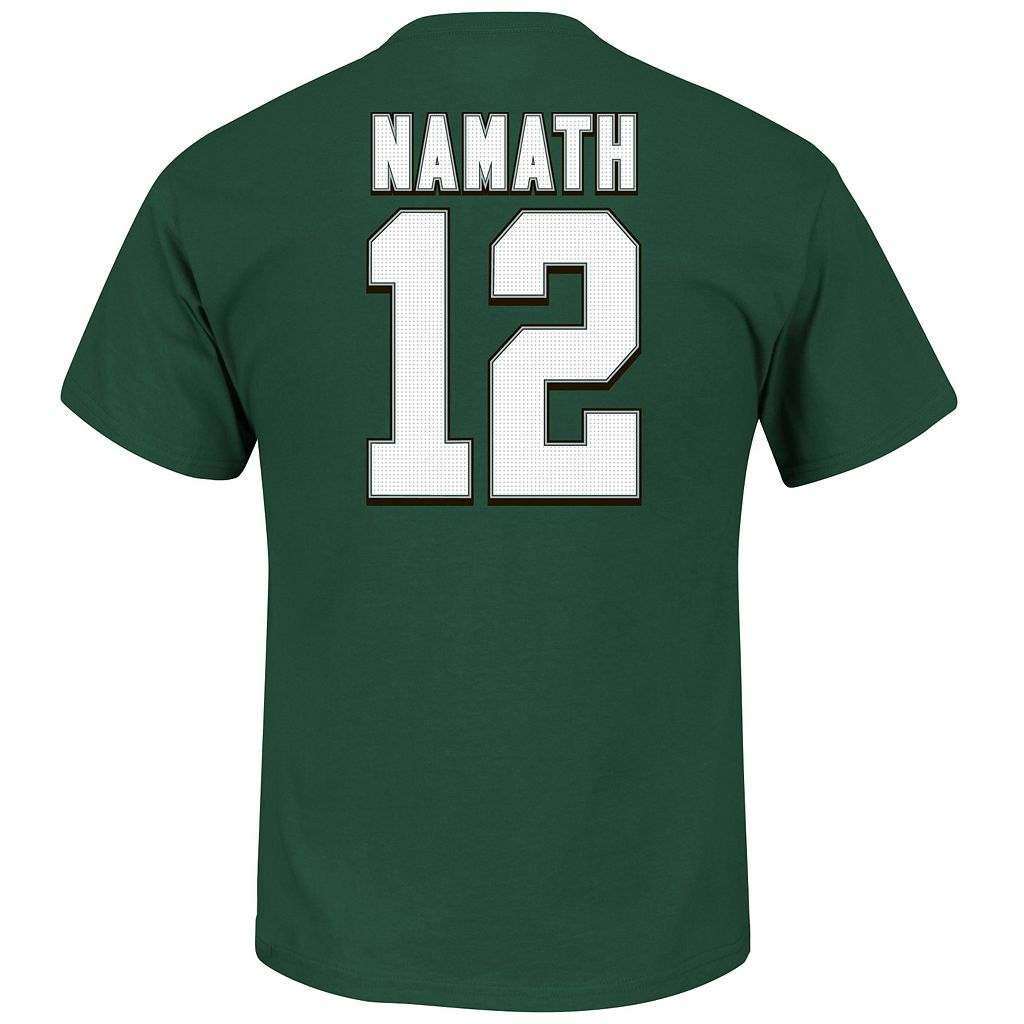 Men's Majestic New York Jets Joe Namath Hall of Fame Eligible Receiver Tee