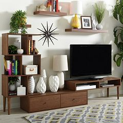 Baxton Studio Haversham Mid-Century Modern Entertainment Center