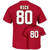 Men's Majestic San Francisco 49ers Jerry Rice Hall of Fame Eligible Receiver Tee