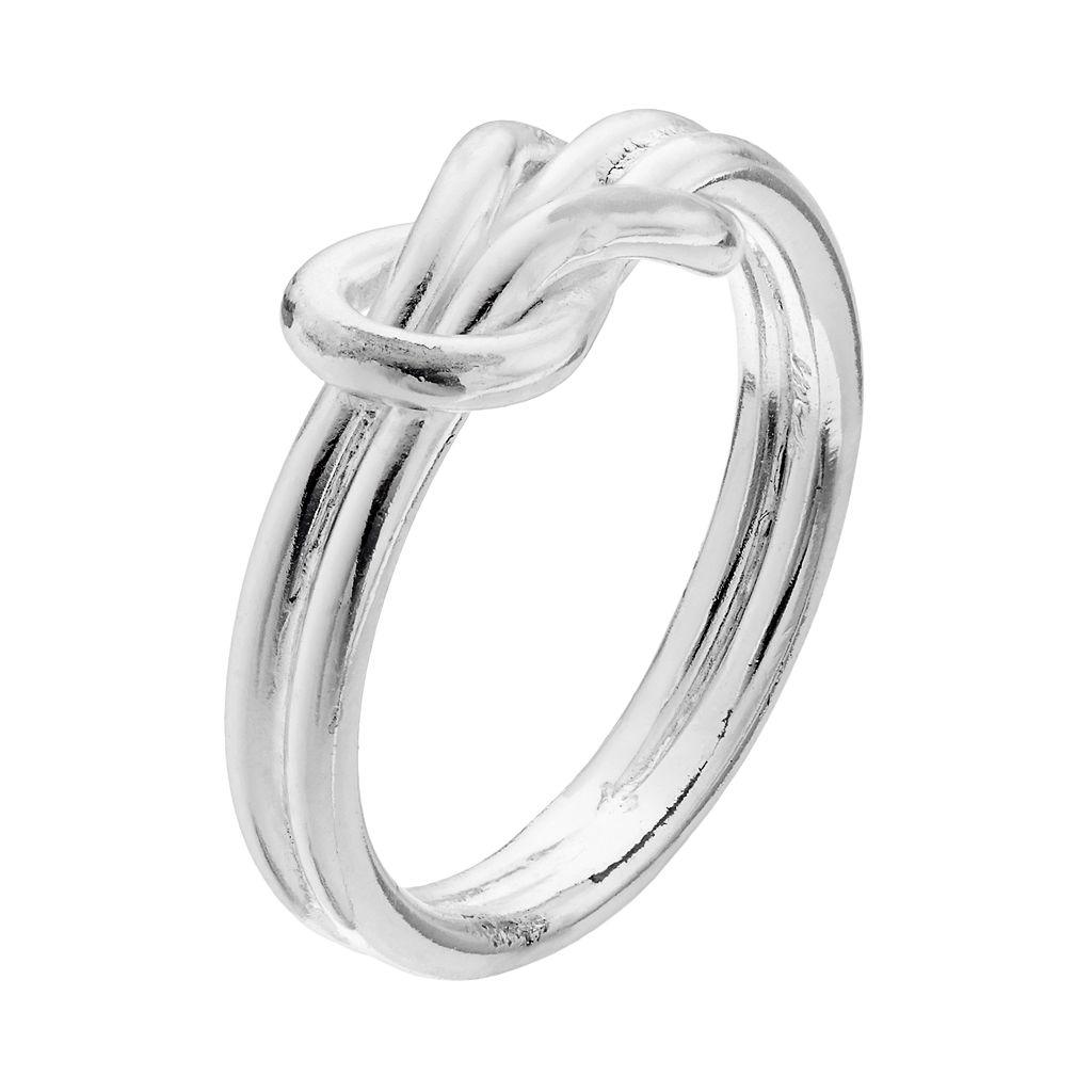 PRIMROSE Sterling Silver Slipknot Ring