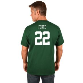 Men's Majestic New York Jets Matt Forte Name and Number Tee