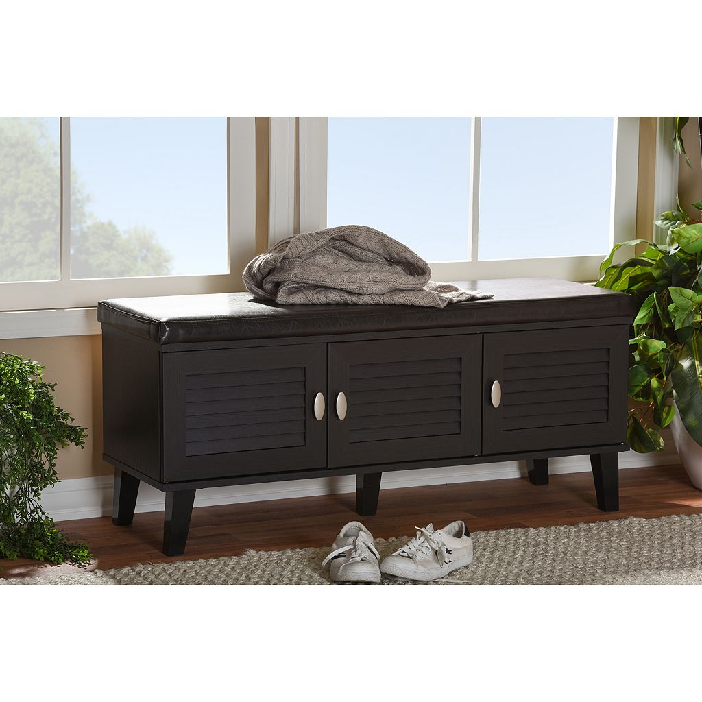 Baxton Studio Sheffield 3-Door Storage Bench