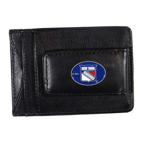 New York Rangers Black Leather Cash & Card Holder