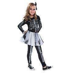 Kids Silver Skeleton Costume