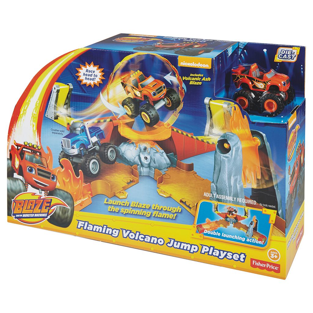 Fisher-Price Nickelodeon Blaze and the Monster Machines Flaming Volcano Jump