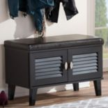 Baxton Studio Sheffield 2-Door Storage Bench