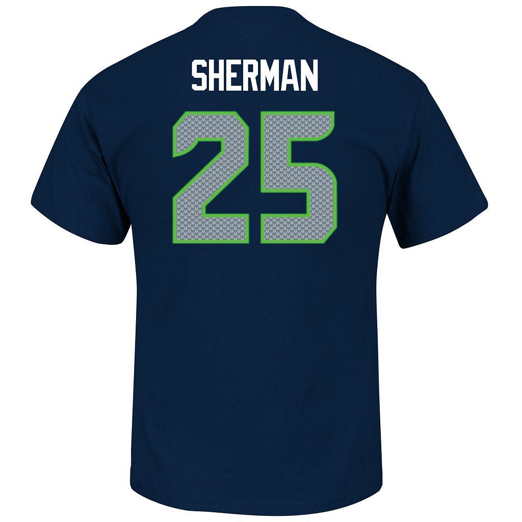 Men's Majestic Seattle Seahawks Richard Sherman Eligible Receiver Tee