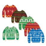 Ugly Sweater 6-pack Assorted Coasters by 30 Watt