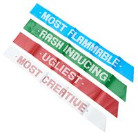 Holiday Party Ugly Sweater Award Sashes by 30 Watt