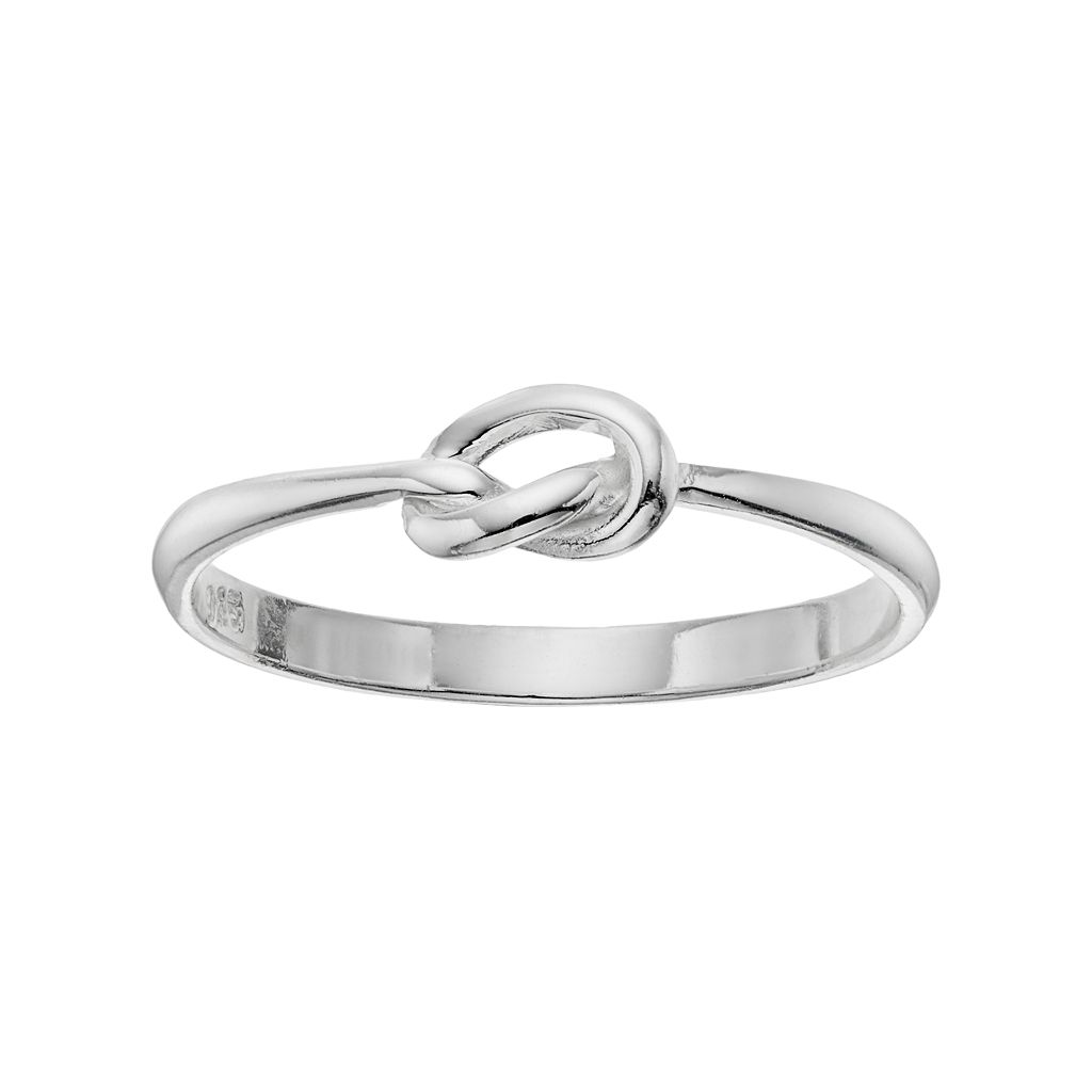 PRIMROSE Sterling Silver Love Knot Ring