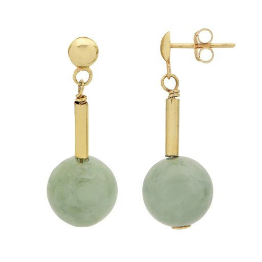 PearLustre by Imperial 14k Gold Jade Ball Drop Earrings